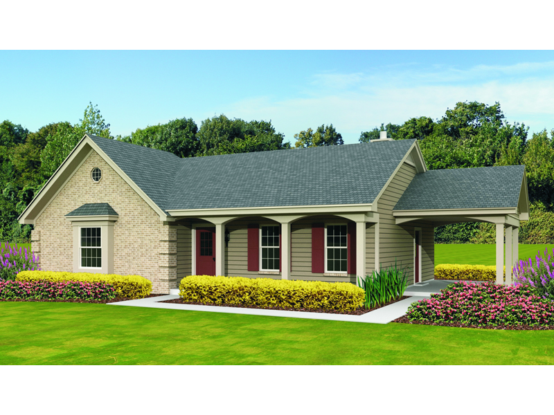 Ranch House Plan Front of Home - 087D-1680 | House Plans and More