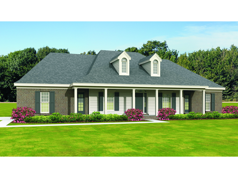 Plantation House Plan Front of Home 087D-1681