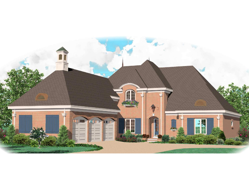 Country House Plan Front of Home - 087S-0020 | House Plans and More