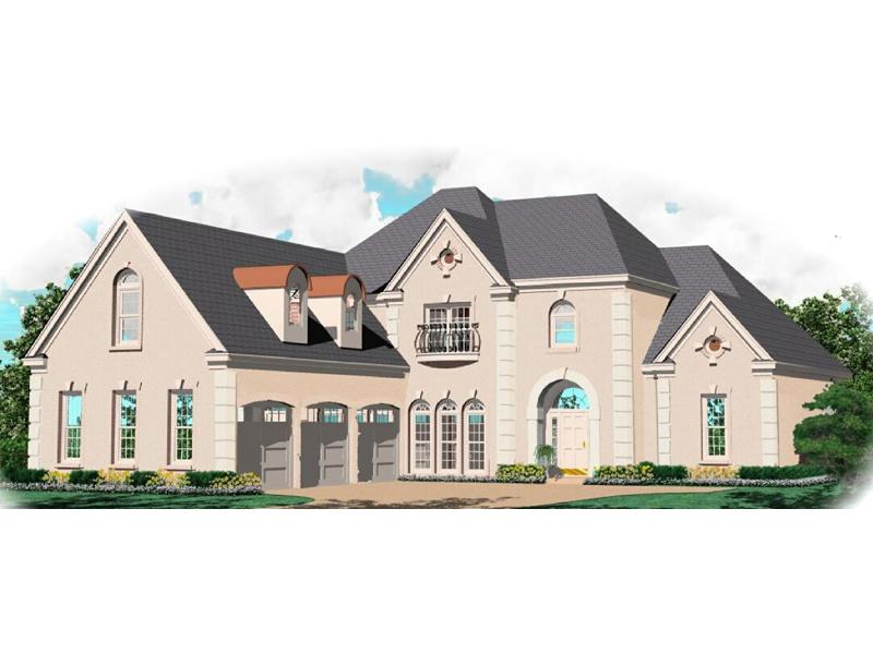 Luxury Design With Amazing Balcony And Stucco Façade