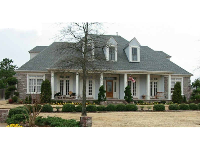Southern Plantation Style home With Triple Roof Dormers