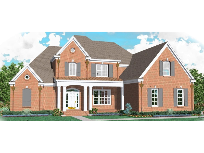 Luxury Two-Story Home Has Brick Exterior And Side Entry Garage