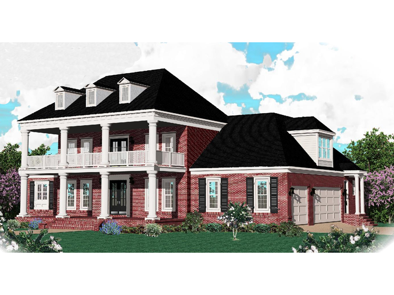 Southern Plantation Inspired Luxury Two-Story House