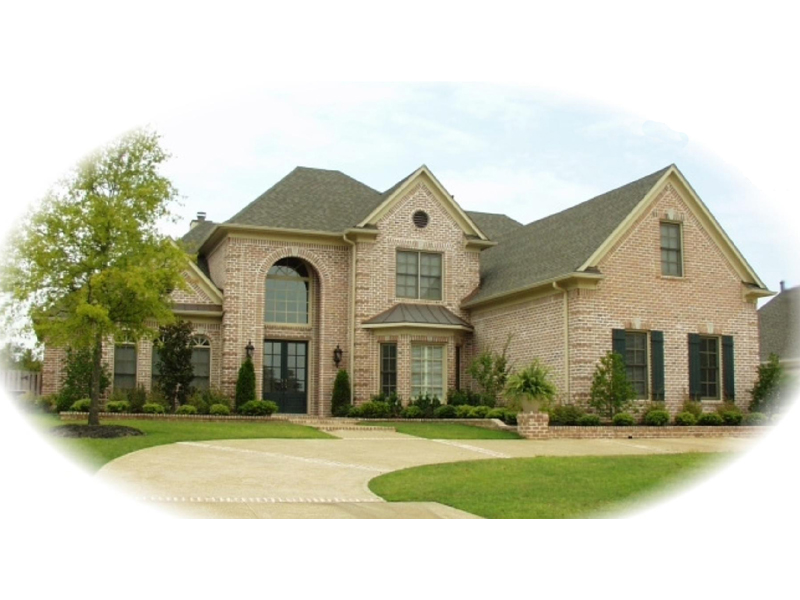 Traditional Home With Remarkable Arched Entry