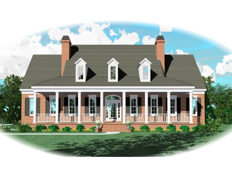 Symmetrically Pleasing Country Plantation House