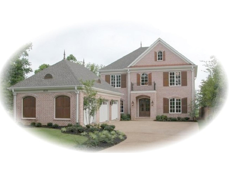 Stylish Country French Two-Story With Side Entry Garage