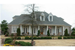 Southern Country Home With Porch And Triple Dormers