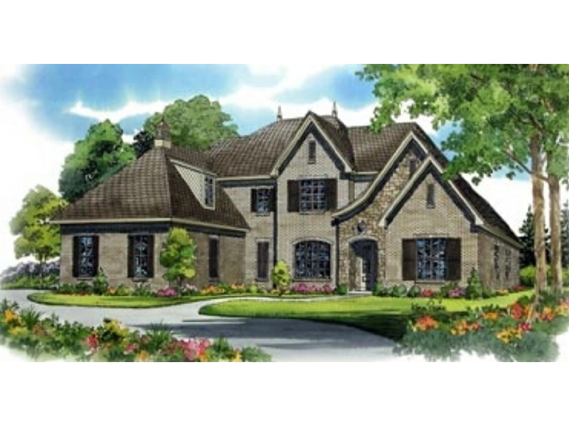 Konigsberg european home plan 087s 0096 house plans and more for European manor house plans
