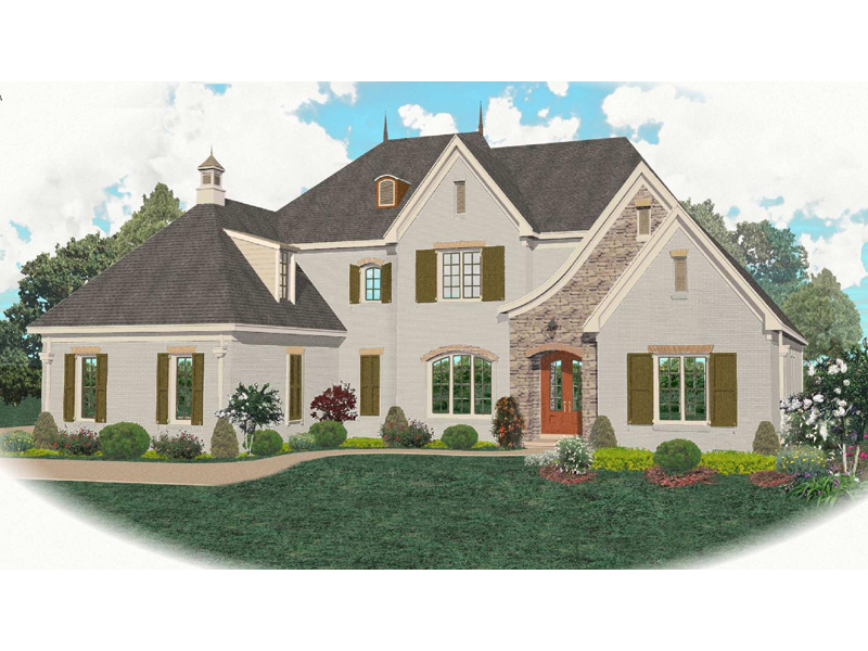 Ashton manor european home plan 087s 0097 house plans for European manor house plans