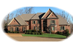 Grand Brick Traditional Two-Story House With Multiple Gables
