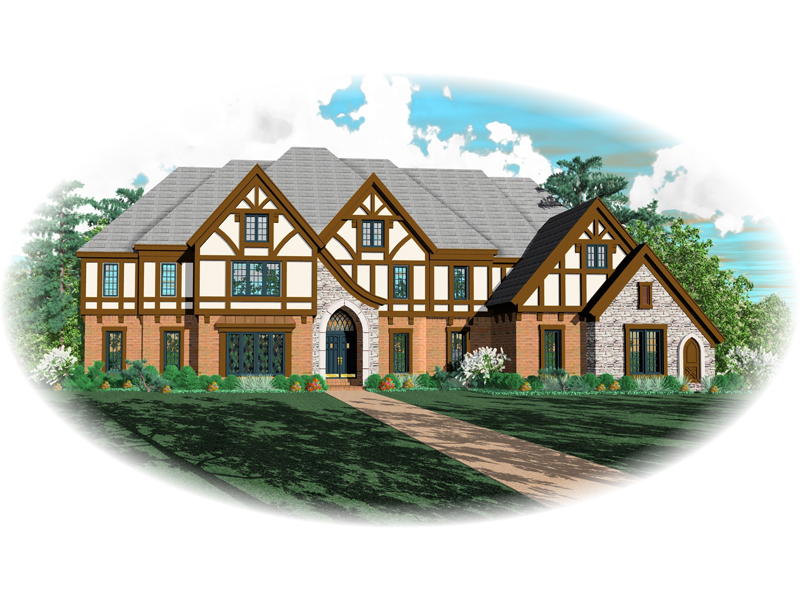 Luxury House Plan Front of Home - 087S-0111 | House Plans and More