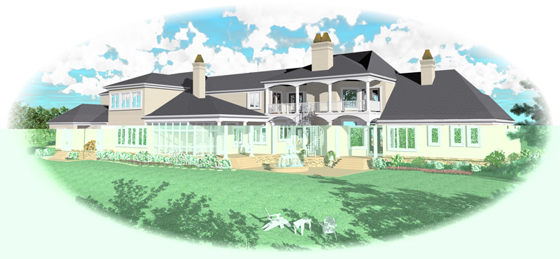 Country House Plan Color Image of House - 087S-0114 | House Plans and More