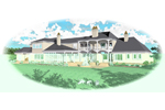 Traditional House Plan Color Image of House - 087S-0114 | House Plans and More