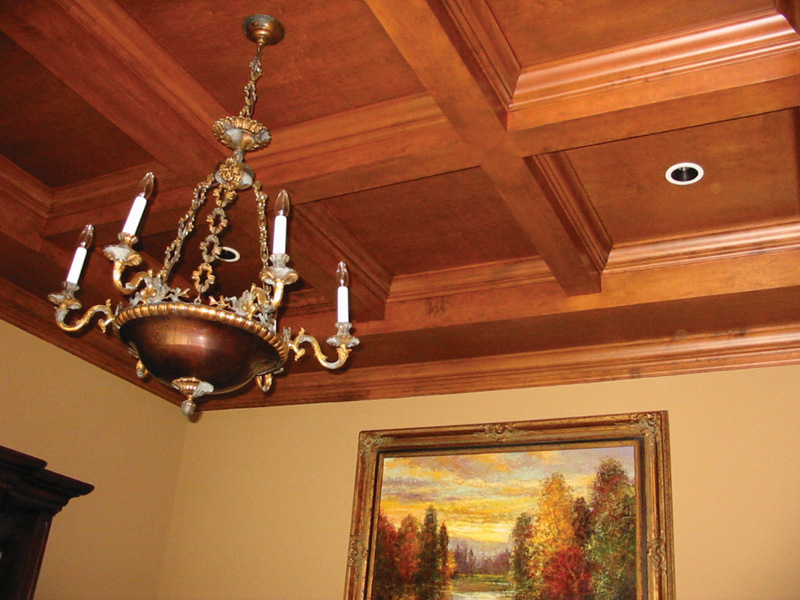 Luxury House Plan Ceiling Detail Photo 087S-0116
