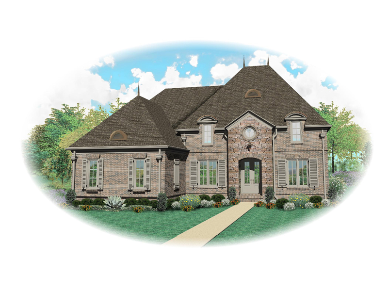 European Luxury House With Hip Roof