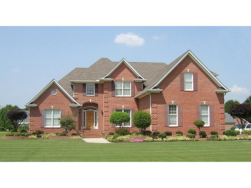 Traditional Brick Two-Story Huse With Stylish Curb Appeal