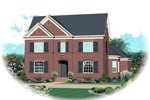 Narrow Lot Brick Home Full Of Luxury