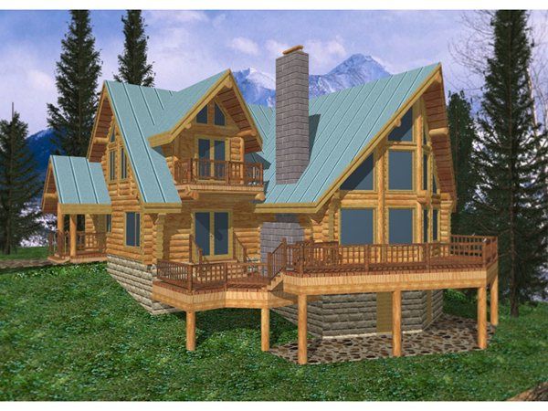Freeland Creek A Frame Log Home Plan 088d 0002 House