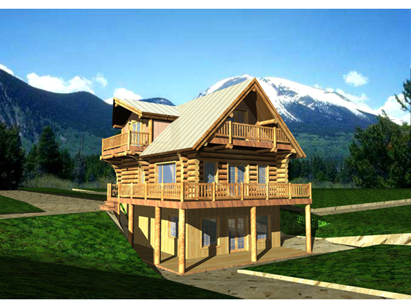 Ponchartrain rustic lake home plan 088d 0007 house plans for Mountain view home plans