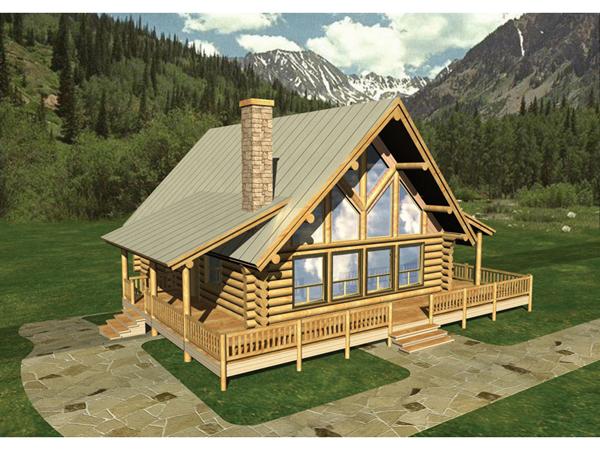 Cheyenne well luxury log home plan 088d 0010 house plans for Luxury log cabin floor plans