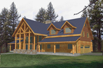 Luxury A-Frame Log Home With Rugged Mountain Style