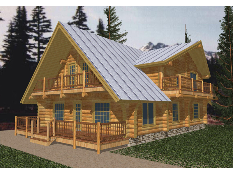 Mountain Home Plan Front of Home - 088D-0031 | House Plans and More
