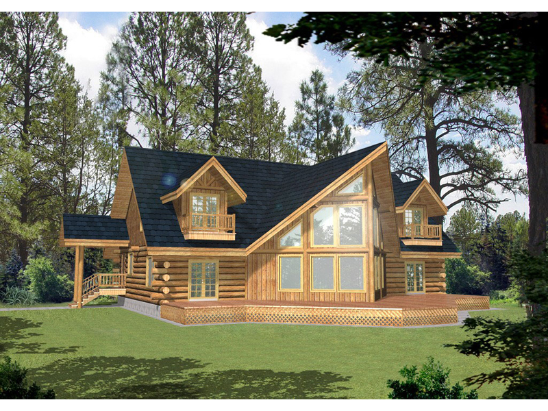 A-Frame Home Plan Front of Home 088D-0044
