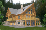 Luxurious A-Frame Log Home With Great Rustic Style