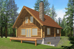 Rustic Log Cabin Is Great For Relaxing Vacation