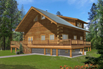 Large Log Cabin Designed For Vacation Retreat
