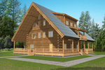 Luxury Log Cabin Style Features Full Wrap-Around Deck