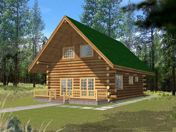 Hiawatha Vacation Log Home Plan 088d 0059 House Plans