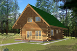 Nestled Log Home Designed For Vacation Home