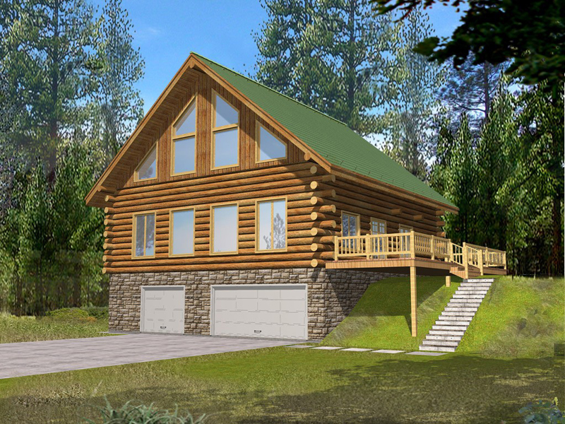 Perfect Log House For Mountain View