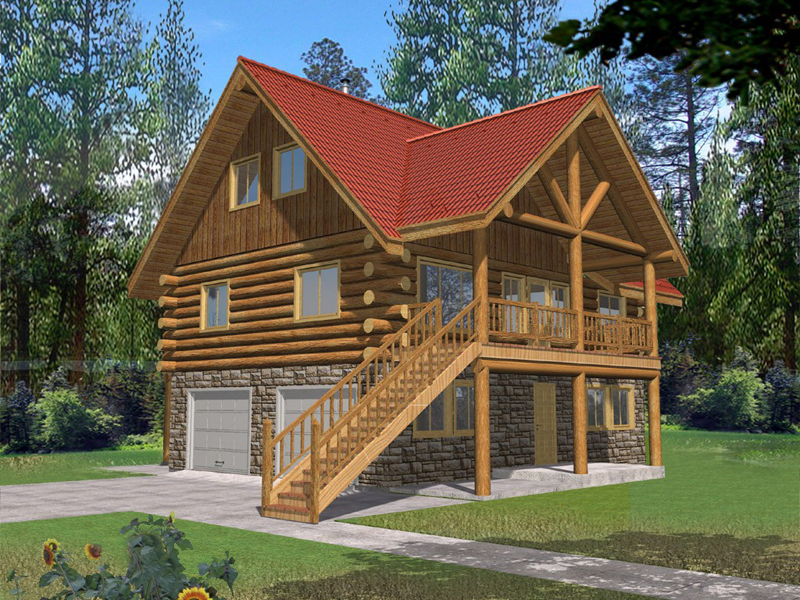 Eddystone place cottage home plan 088d 0063 house plans for Cabin house plans with garage