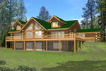 Raised Log Style Home With Expansive Balcony For Great View