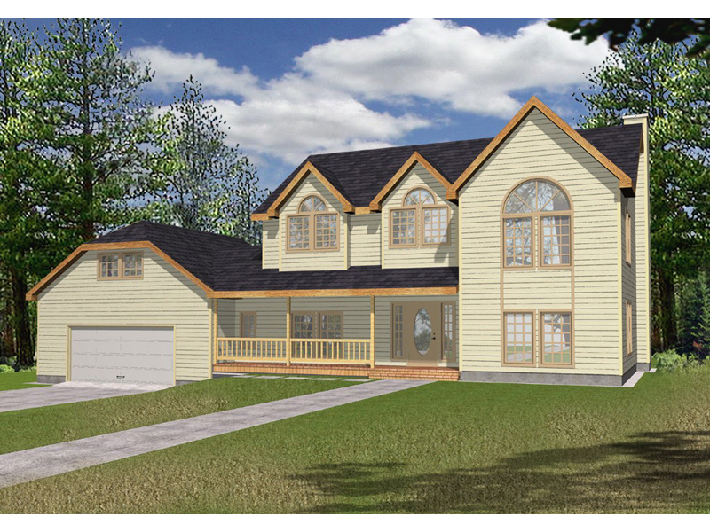 Southern House Plan Front of Home 088D-0068