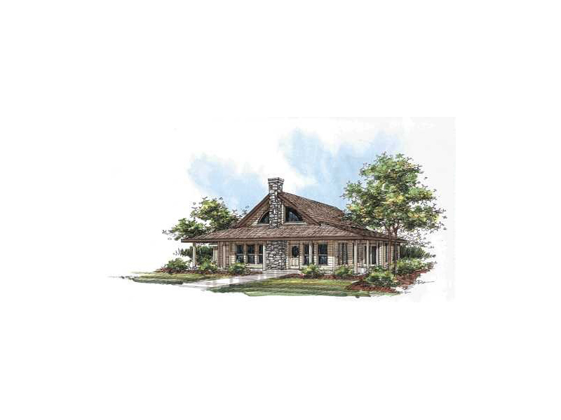Ranch House Plan Front of Home 088D-0069