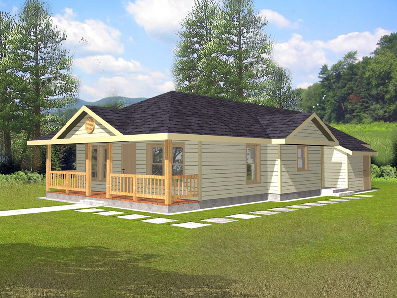 Cabin and Cottage Plan Front of Home 088D-0077