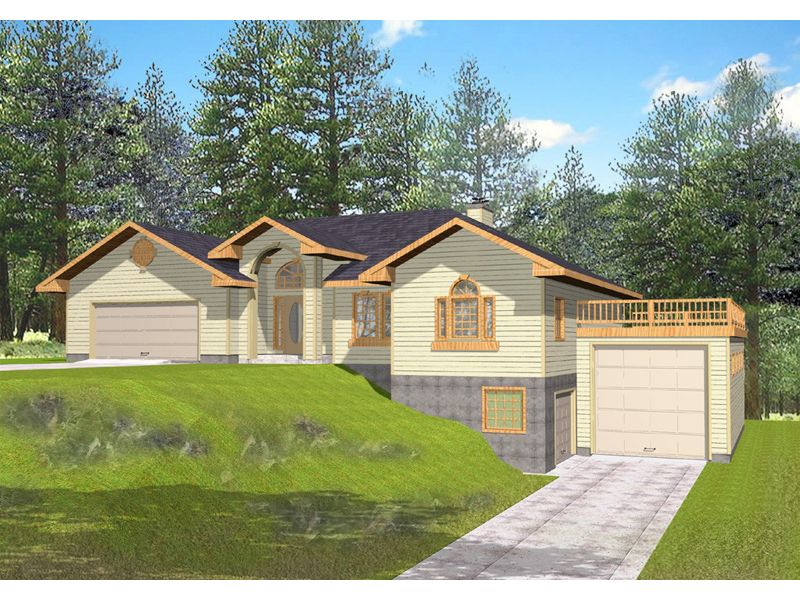 Ranch House Plan Front of Home 088D-0078