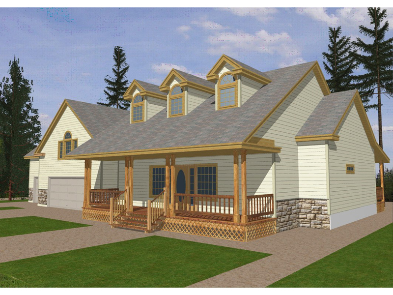 Ranch House Plan Front of Home 088D-0081
