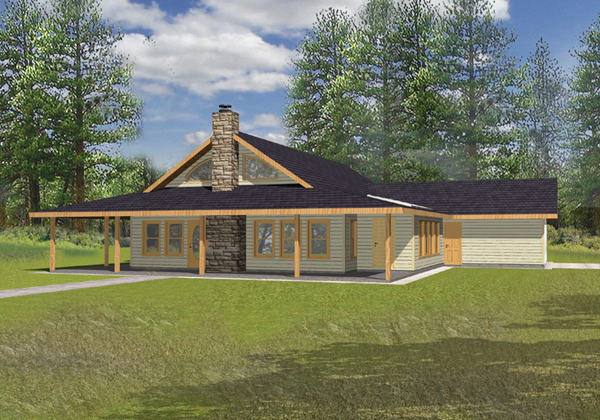 Alpine ridge country home plan 088d 0083 house plans and for Alpine house plans
