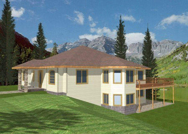 Melita sloping lot home plan 088d 0086 house plans and more Vacation house plans sloped lot