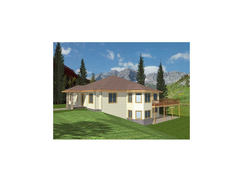 Mountain Home Plan Front of Home 088D-0086