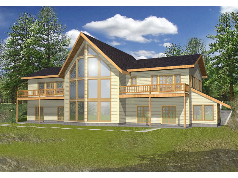 A-Frame Home Plan Front of Home 088D-0087