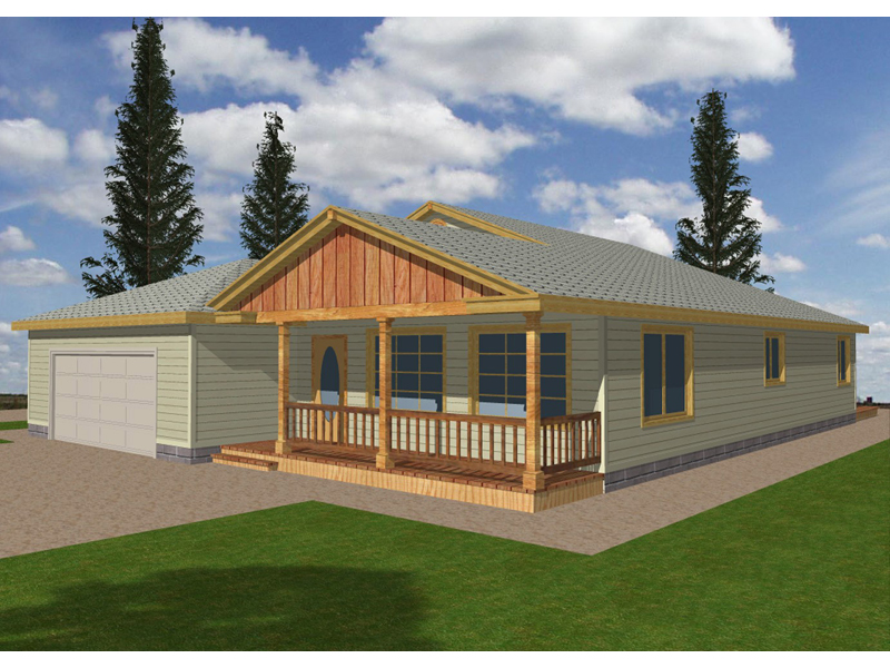 Ranch House Plan Front of Home 088D-0093