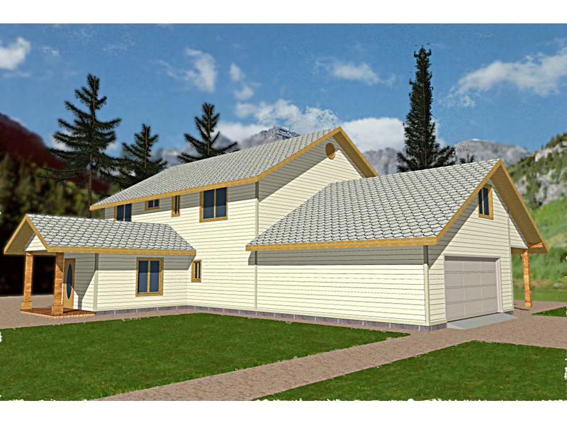 Traditional House Plan Front of Home 088D-0096