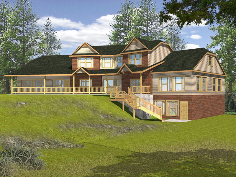 Traditional House Plan Front of Home 088D-0099
