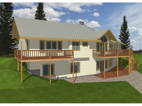 Ridge forest rustic ranch home plan 088d 0101 house Vacation house plans sloped lot