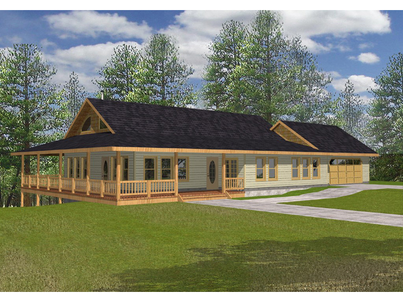 Ranch House Plan Front of Home 088D-0102